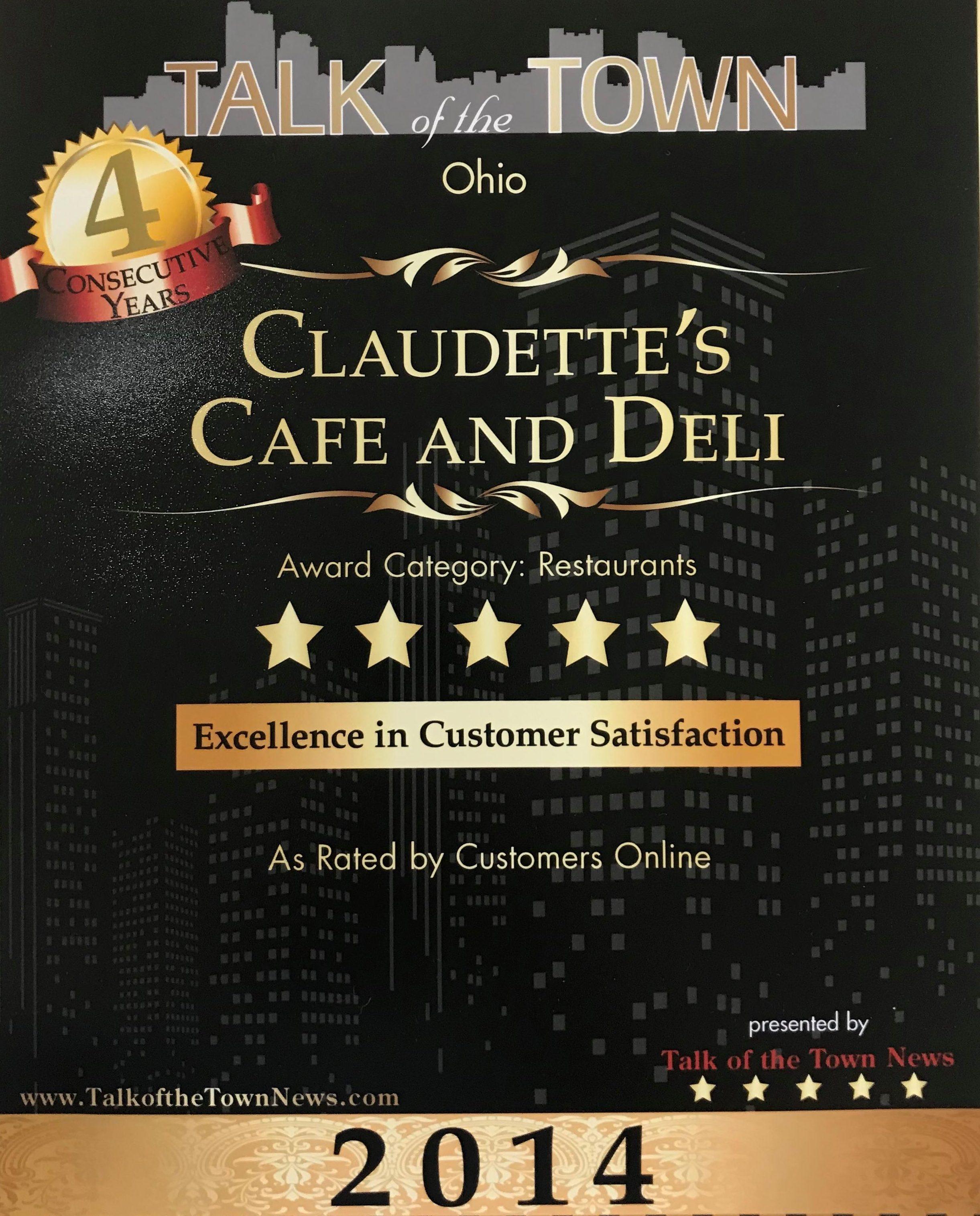 Home Claudettes Cafe Deli